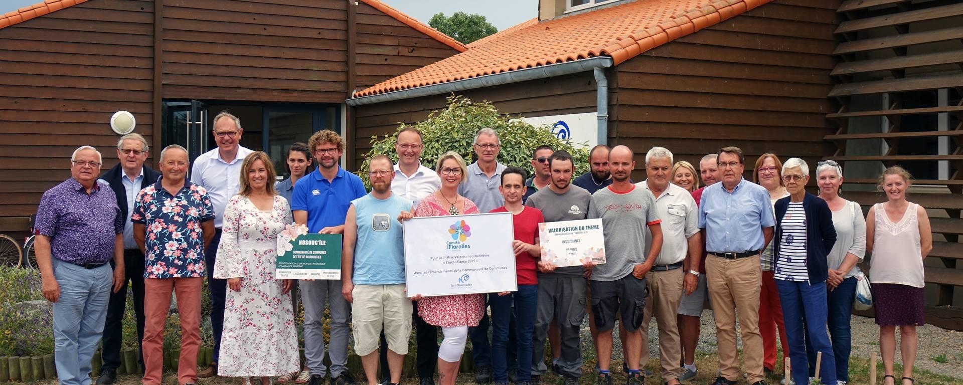 La Communauté de Communes a souhaité féliciter celles et ceux qui ont contribué à la visibilité de l'île.