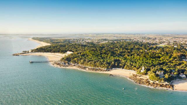 vue aérienne de l'ile de noirmoutier