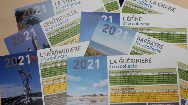 Jours de collecte 2021