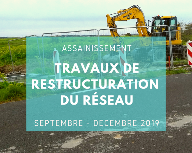 Assainissement : Travaux de restructuration