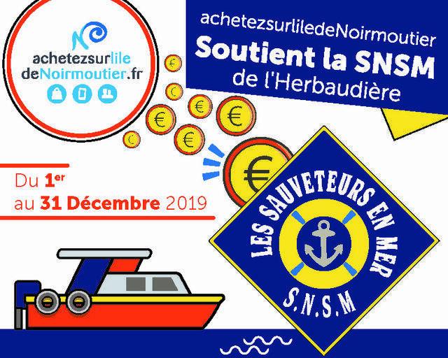 Achat de fête solidaire en faveur de la SNSM de l'Herbaudière