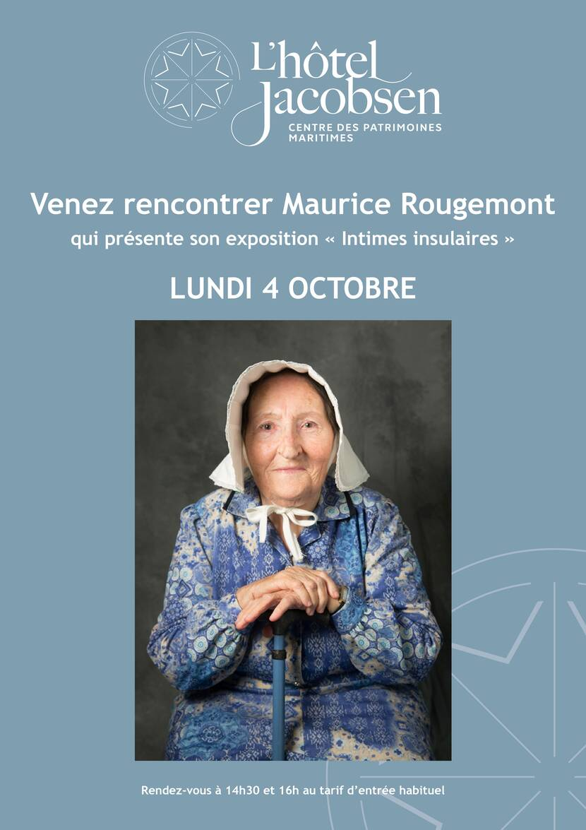 Affiche rencontre avec Maurice Rougemont - Intimes Insulaires