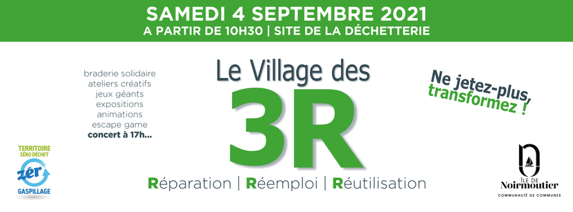 bannière présentation du Village des 3R