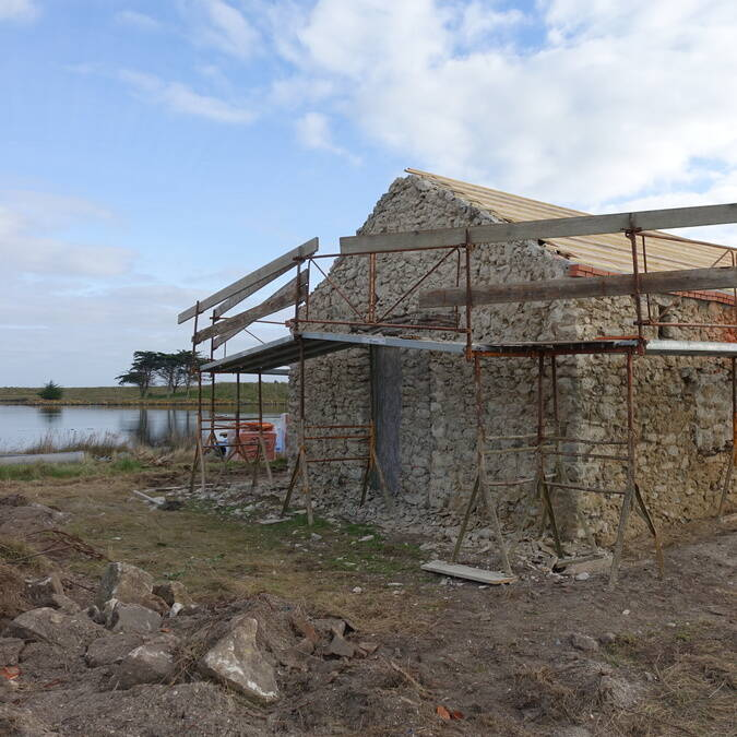 La Maison du vide lors de sa rénovation